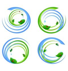 set of an environmental icons vector image