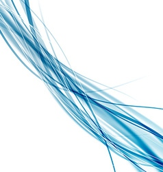 Speed soft smooth abstract blue rapid wave vector image vector image