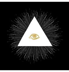 all seeing eye black vector image