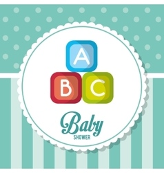 blocks of baby shower card design vector image vector image