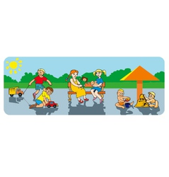 Children in a playground vector
