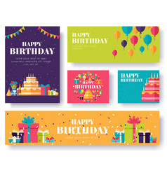 gift information cards set surprise template of vector image