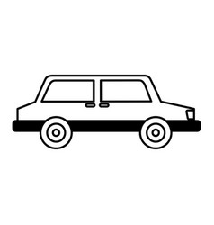 isometric car isolated icon vector image
