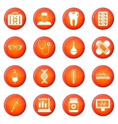 Medicine icons set vector image