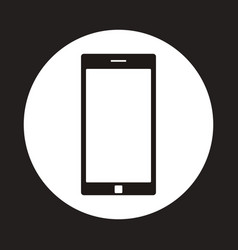Smartphone icon inside circle vector