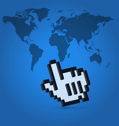 world click pointer vector image vector image