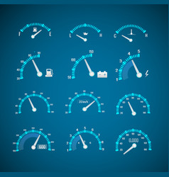 Car interface elements set vector