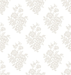 Seamless light floral wallpaper vector image vector image