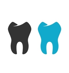 Tooth Icon logo on white background vector image vector image