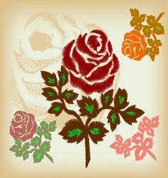 vintage flower vector image vector image