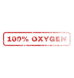 100 percent oxygen rubber stamp vector
