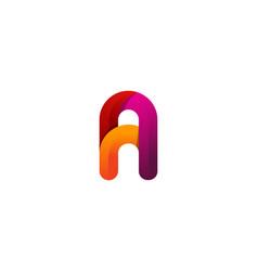 a colorful letter logo icon design vector image