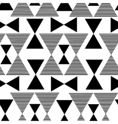 Abstract black geometric pattern vector