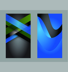 abstract business cards set in various concepts vector image