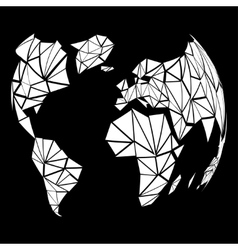 Abstract globe earth in polygonal style vector