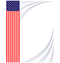 american flag decorative background poster frame vector image