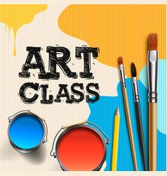 Art class workshop template design kids art craft vector