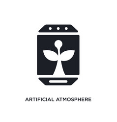 Artificial atmosphere isolated icon simple vector