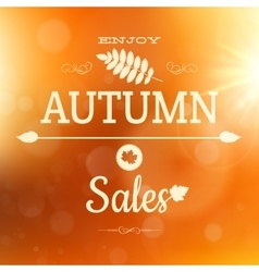 Autumn sale poster background EPS 10 vector image
