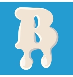 B letter isolated on baby blue background vector