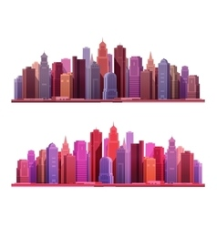 Big modern city with skyscrapers Construction or vector image