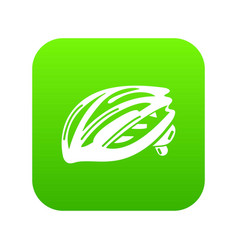 bike helmet protection icon green vector image