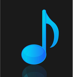 Blue musical note isolated vector