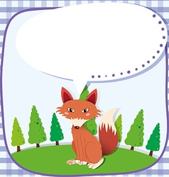 Border design with red fox vector