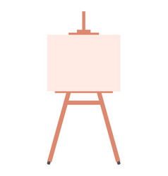 bright canvas on wooden stand isolated on white vector image