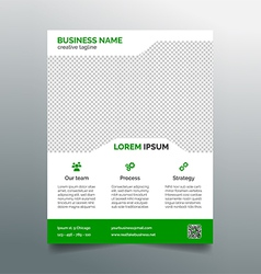 Business flyer template - simple green design vector image