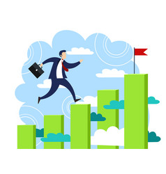 Businessman run to his goal vector