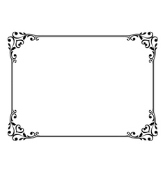 calligraphy frame vector image