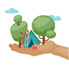 camping adventure time with vector image