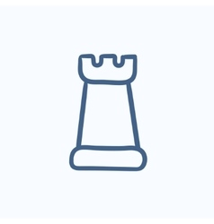 Chess sketch icon vector image