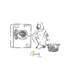 chores concept sketch isolated vector image