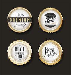 collection luxury golden design elements vector image