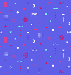 colorful memphis seamless pattern repetitive vector image