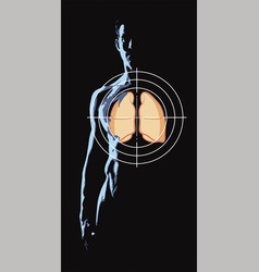Concern for the health of their lungs vector