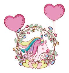cute unicorn cartoons vector image