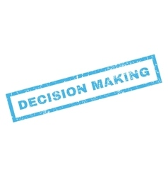 Decision Making Rubber Stamp vector image
