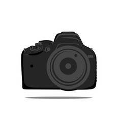 Dslr camera flat design icon vector