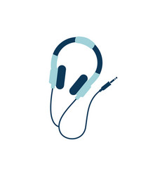 Earphones music detailed style icon vector