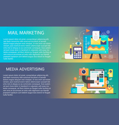 email mobile marketing in trendy dynamic gradient vector image