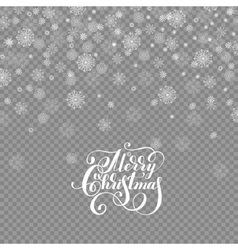 falling holidays decoration snow isolated on vector image