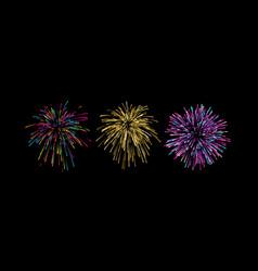 Firework bursting shapes vector