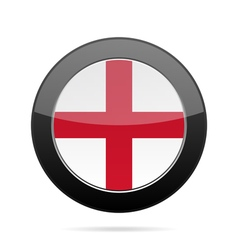 Flag of England Shiny black round button vector