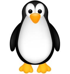 Funny penguin cartoon vector