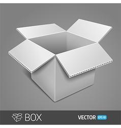 Gray cardboard box EPS 10 vector image vector image