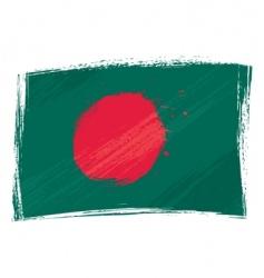 grunge Bangladesh flag vector image