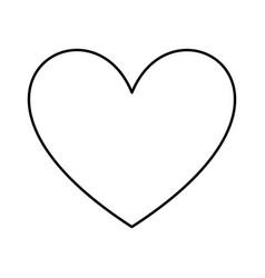 heart icon design love card vector image